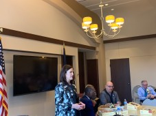 Gov. Gretchen Whitmer at the Staff Appreciation Luncheon hosted by the Northern Michigan Chamber Alliance.